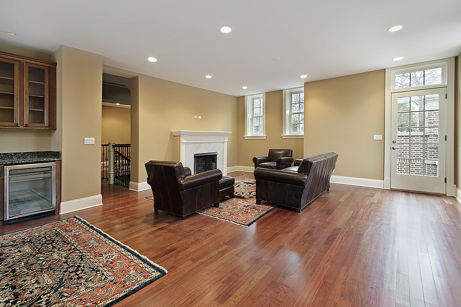 Living area with hardwood flooring in Melbourne